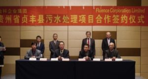 Fluence Corporation ASX FLC China wastewater plant