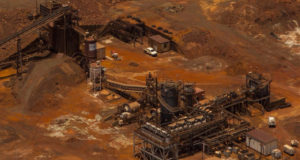 Artemis Resources ASX ARV Radio Hill processing plant aerial view