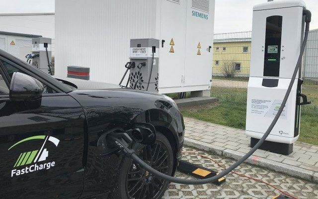 BMW Porsche Tesla FastCharge 3 minute electric vehicle charge