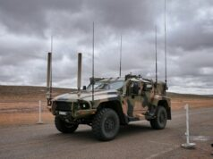 Electro Optic Systems ASX EOS Remote Weapon Commonwealth of Australia Bushmaster Hawkei vehicle