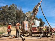 Argent Minerals ASX ARD RC drilling Pine Ridge gold mine