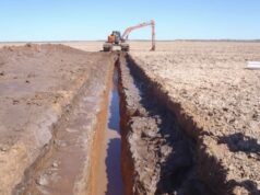 Trigg Mining Lake Throssell Sulphate of Potash Project ASX TMG trenching test pumping